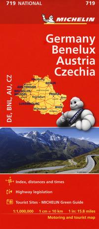 GERMANY BENELUX AUSTRIA CZECHIA 1:1.000.000.
