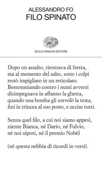 FILO SPINATO di FO ALESSANDRO