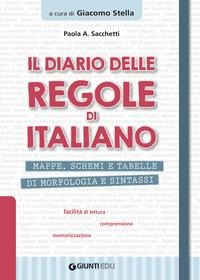 DIARIO DELLE REGOLE DI ITALIANO di SACCHETTI PAOLA