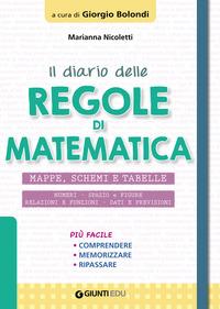 DIARIO DELLE REGOLE DI MATEMATICA di NICOLETTI BOLONDI G. (CUR.)