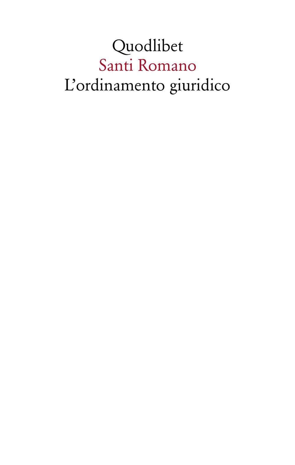 ORDINAMENTO GIURIDICO (L') - 9788822902641