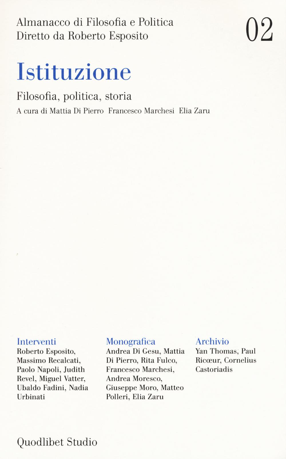 ALMANACCO DI FILOSOFIA E POLITICA (2020) - 9788822904379