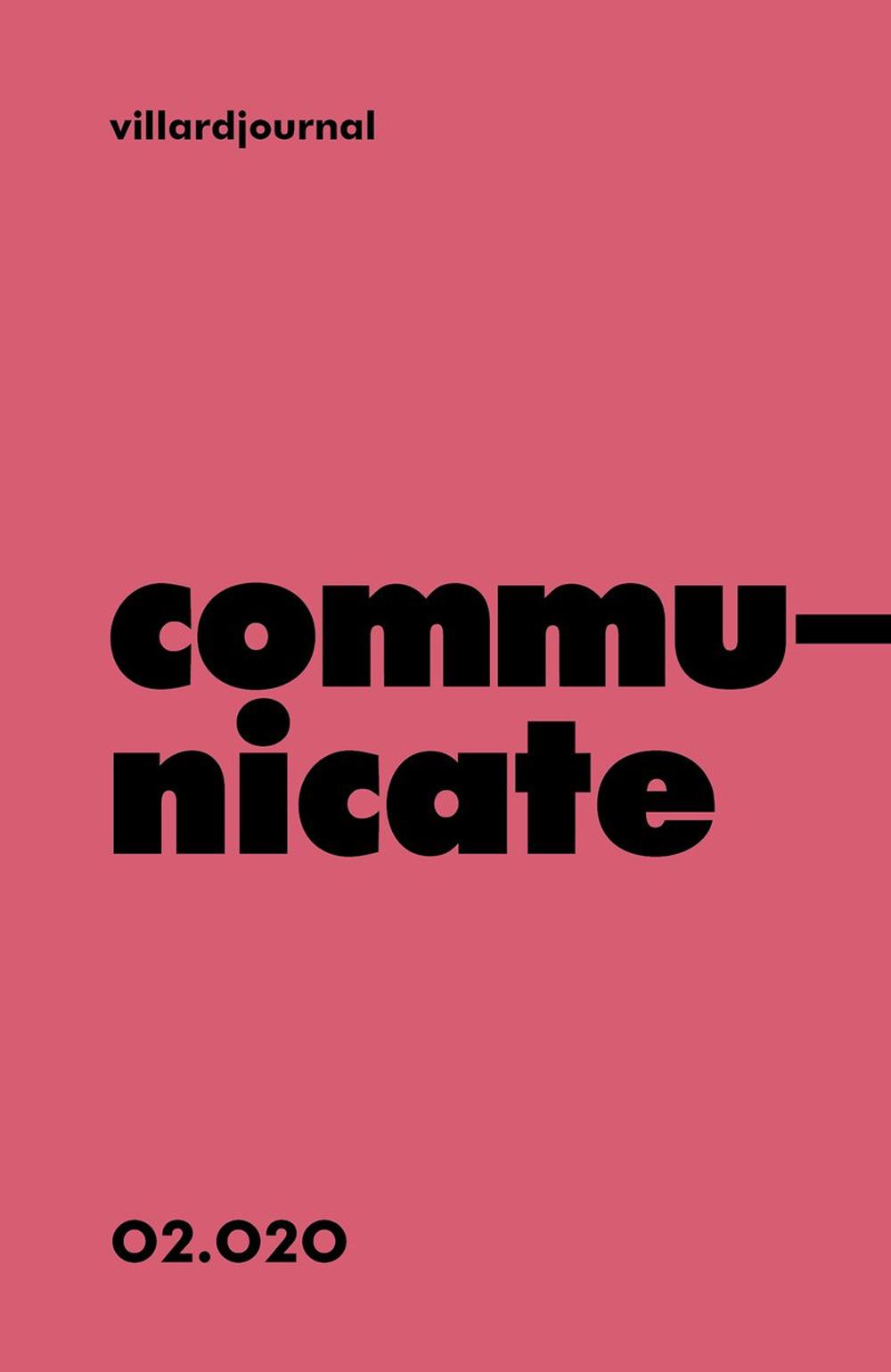 COMMUNICATE. VILLARDJOURNAL (2020)
