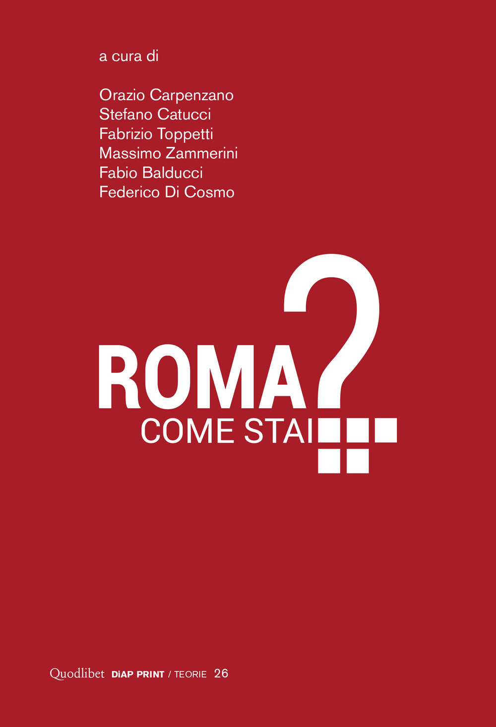 ROMA COME STAI? - AA.VV. - 9788822907127