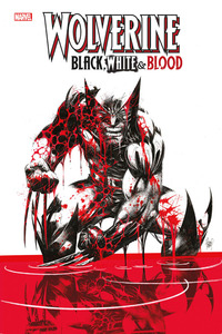 WOLVERING BLACK WHITE AND BLOOD