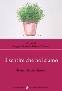 SENTIRE CHE NOI SIAMO - TEORIE SULLA VITA AFFETTIVA di MORTARI L. - VALBUSA F.