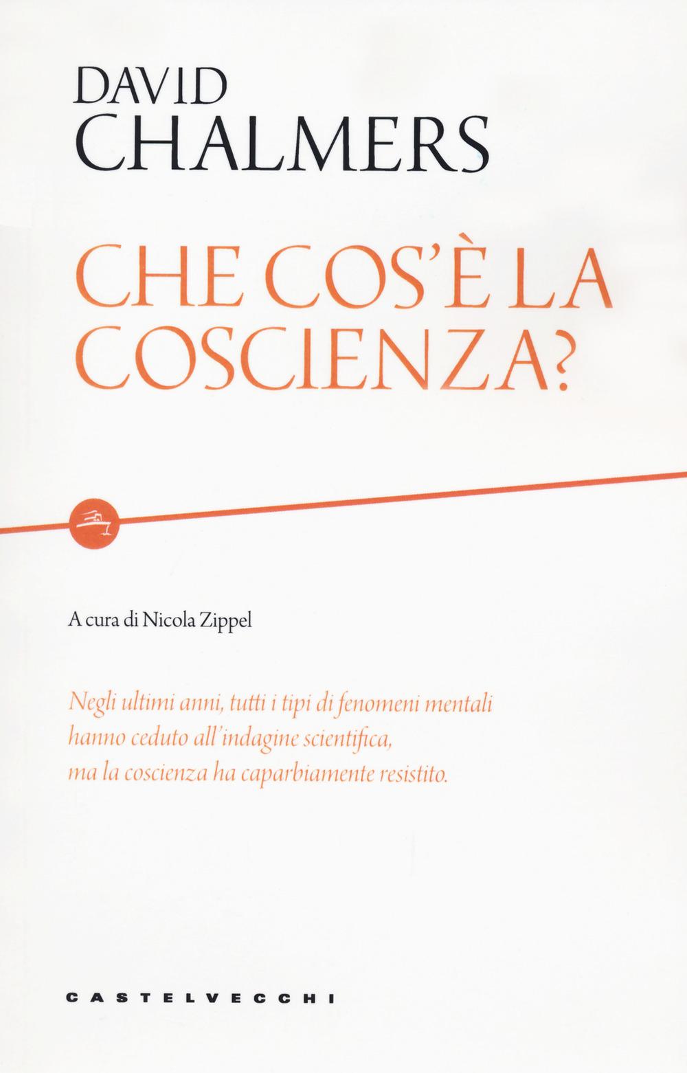 CHE COS'È LA COSCIENZA? - Chalmers David; Zippel N. (cur.) - 9788832900088