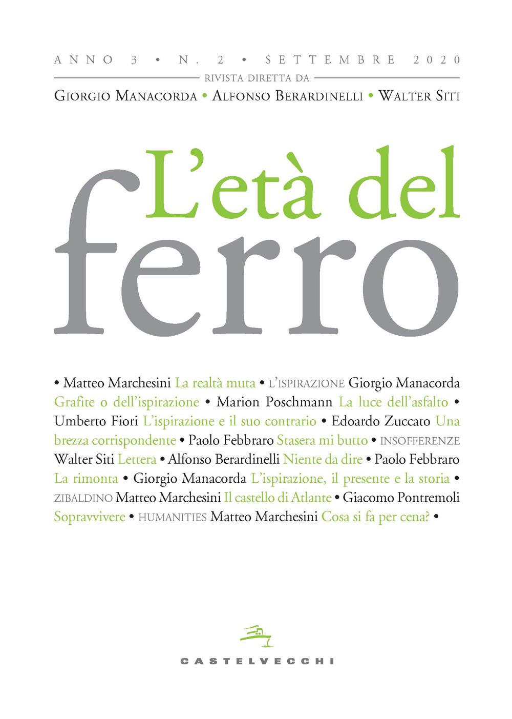 L' ETA' DEL FERRO ANNO 3 N.2 - 9788832902433