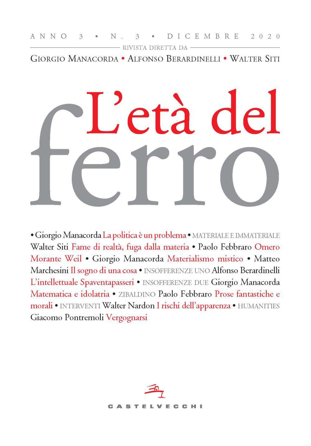 ETA' DEL FERRO ANNO 3 N.3 DICEMBRE 2020 - 9788832903591