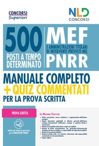 500 POSTI A TEMPO DETERMINATO MEF E AMMINISTRAZIONI TITOLARI DI INTERVENTI PREVISTI NEL...