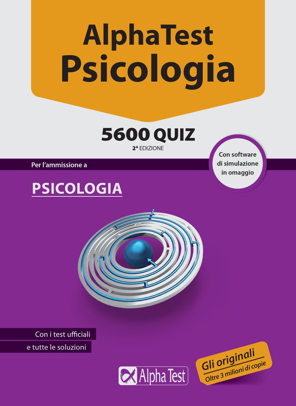 ALPHA TEST. PSICOLOGIA 5600 QUIZ. CON SOFTWARE DI SIMULAZIONE - 9788848317634