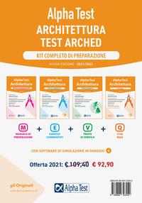 ALPHATEST ARCHITETTURA - KIT COMPLETO TEST ARCHED PREPARAZIONE 4 VOLL.