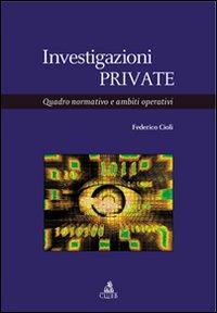 INVESTIGAZIONI PRIVATE. QUADRO NORMATIVO E AMBITI OPERATIVI - 9788849127263