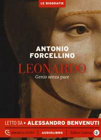 Copertina di: Leonardo. Genio senza pace letto da Alessandro Benvenuti. Audiolibro. CD Audio formato MP3