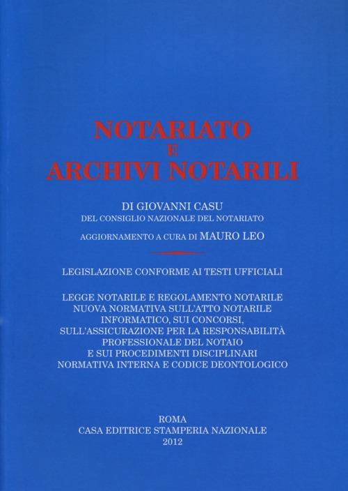 NOTARIATO E ARCHIVI NOTARILI - 9788866380023
