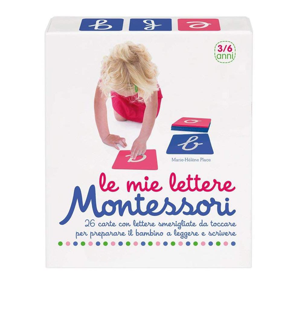Le mie lettere Montessori. 26 carte con lettere smerigliate da toccare per preparare il bambino a leggere e scrivere. Con 26 Carte