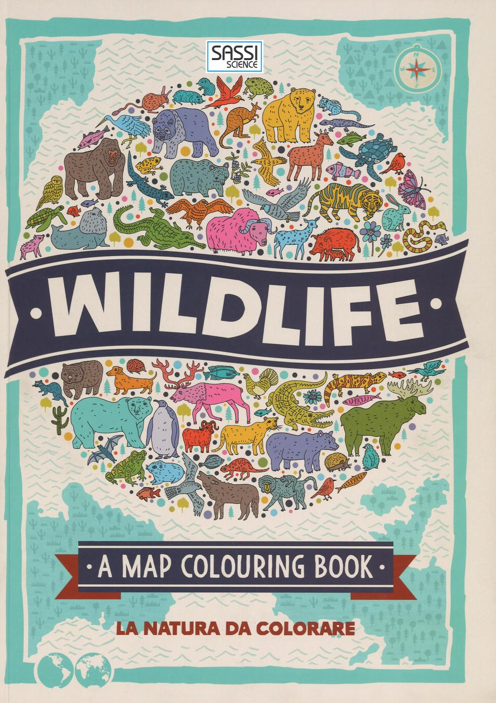 Wildlife. A map colouring book. Ediz. illustrata