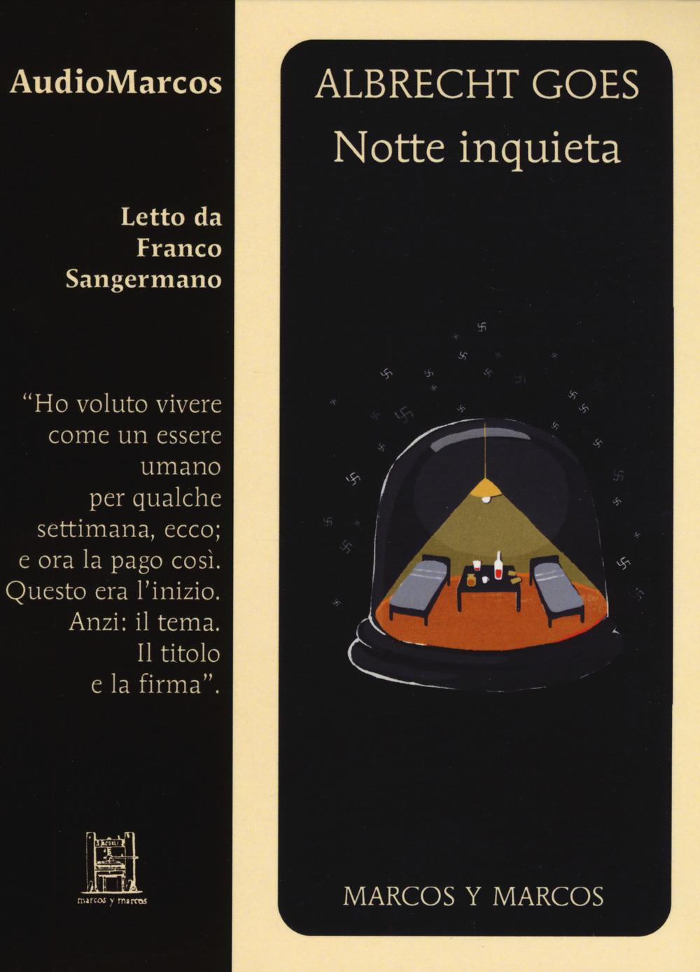 NOTTE INQUIETA LETTO DA FRANCO SANGERMANO. AUDIOLIBRO. CD AUDIO FORMATO MP3 - 9788871688671