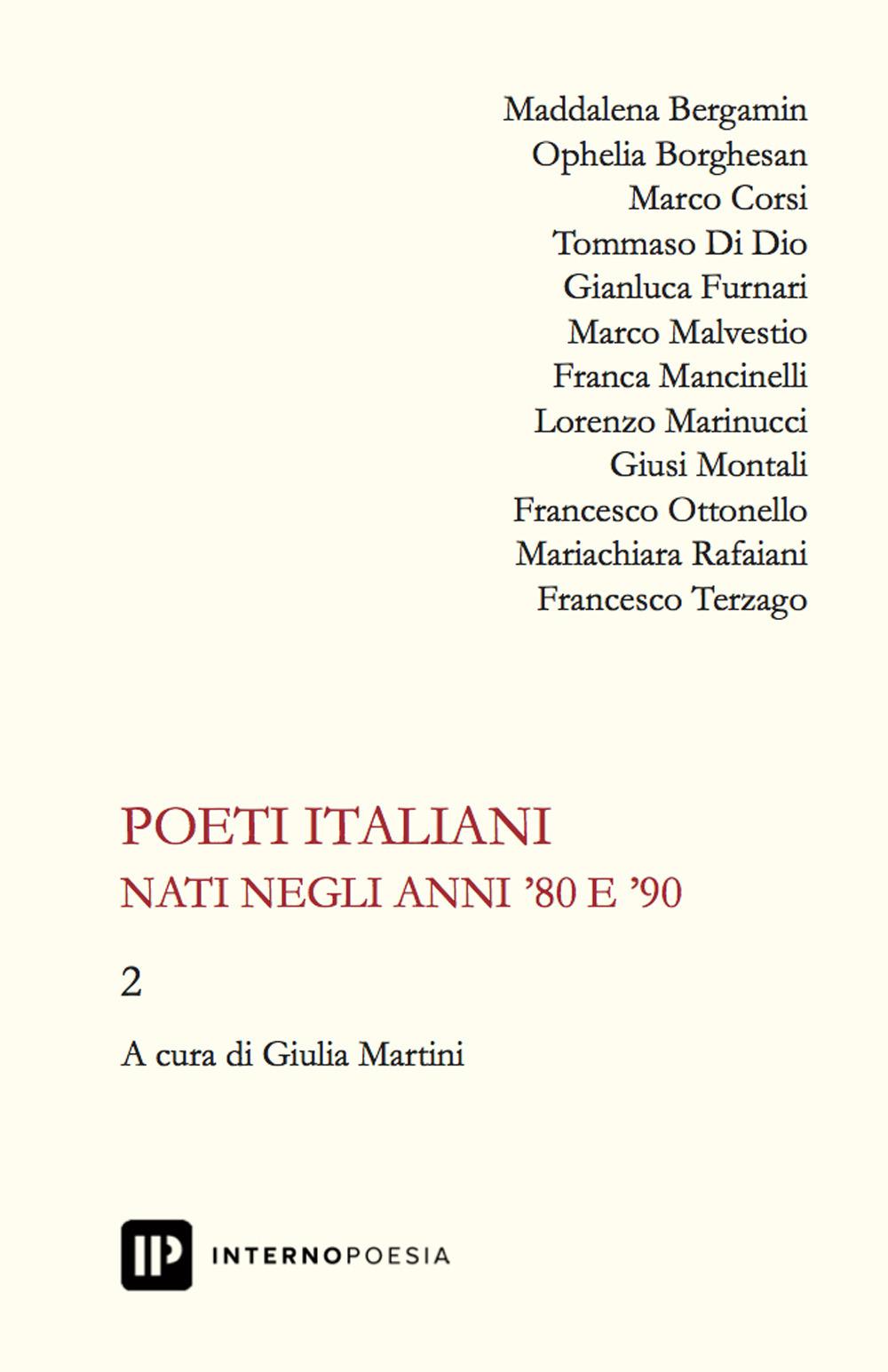 Poeti italiani nati negli anni '80 e '90. Vol. 2
