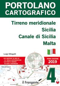 PORTOLANO CARTOGRAFICO - TIRRENO MEIDIONALE SICILIA CANALE DI SICILIA MALTA di...