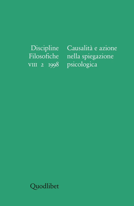 DISCIPLINE FILOSOFICHE VIII 2/1998 CASU - 9788886570718