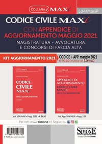 CODICE CIVILE 2021 MAXI CON APPENDICE DI AGGIORNAMENTO MAGGIO