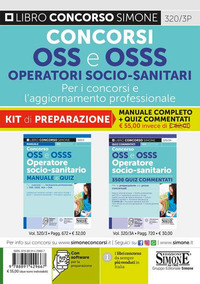 KIT OSS E OSSS OPERATORE SOCIO SANITARIO MANUALE E QUIZ + 3500 QUIZ