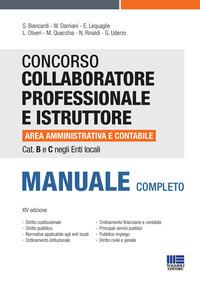 CONCORSO COLLABORATORE PROFESSIONALE E ISTRUTTORE AREA AMMINISTRATIVA E CONTABILE
