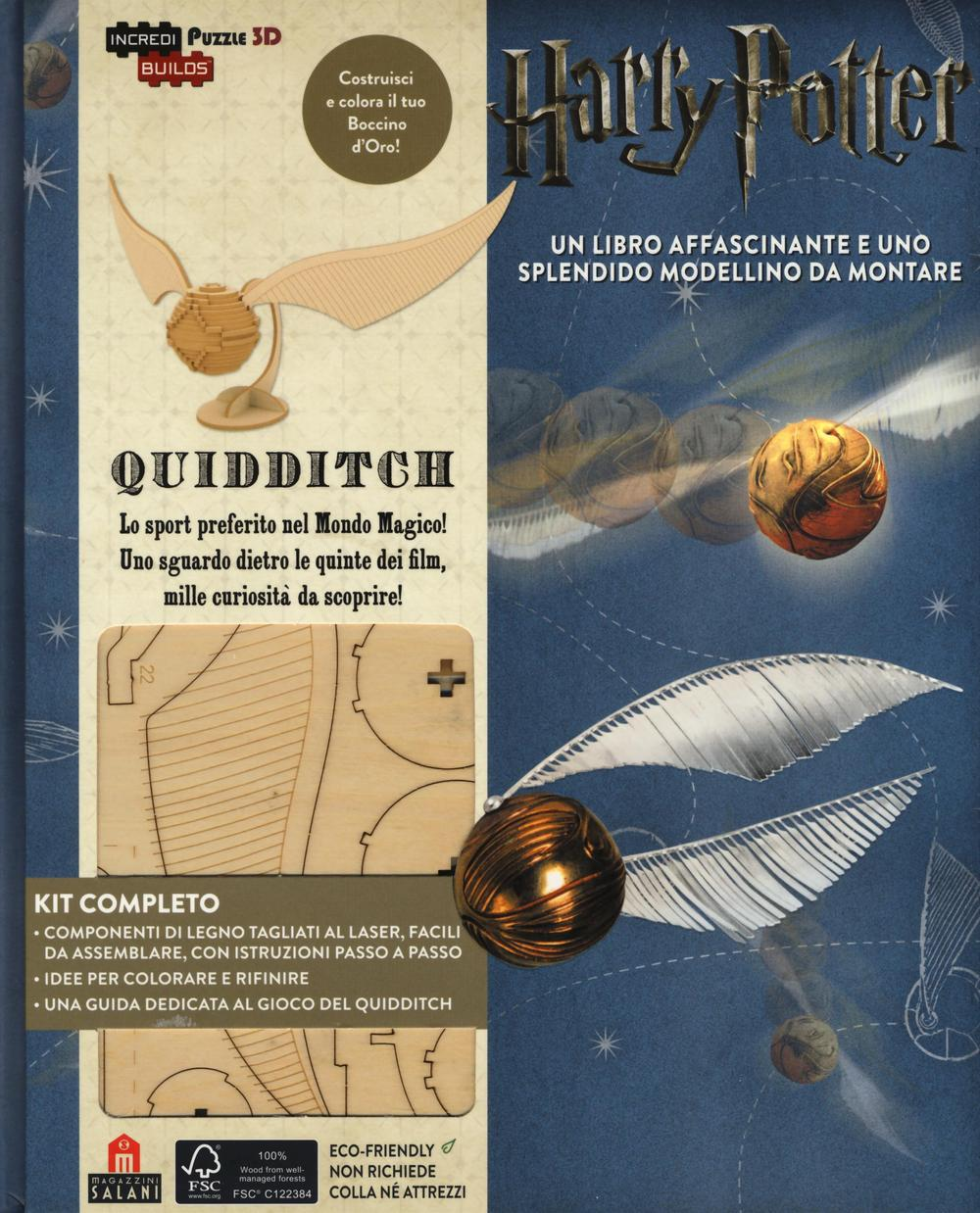 Harry Potter. Quidditch. Puzzle Incredibuilds puzzle 3D da J. K. Rowling. Ediz. illustrata. Con gadget