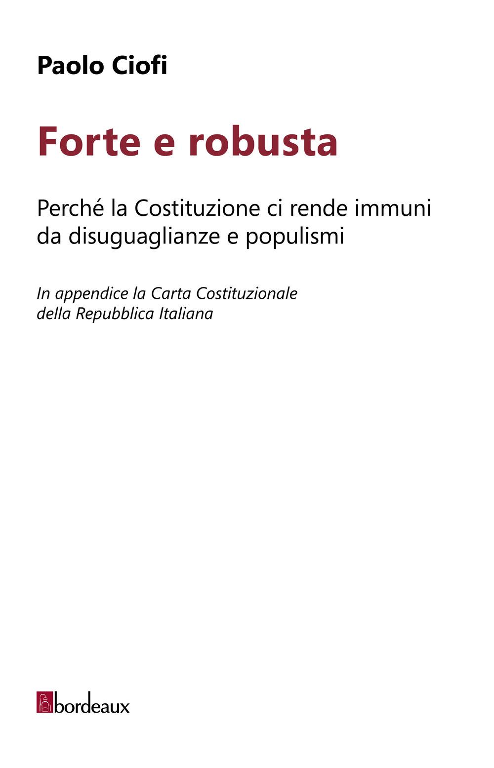 FORTE E ROBUSTA - Ciofi Paolo - 9791259630513